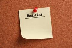 Lista en blanco del cubo Foto de archivo libre de regalías