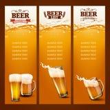 Lista för exponeringsglas för öl två Arkivfoton