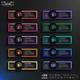 Lista infographic di progettazione di vettore con i cerchi variopinti Fotografie Stock Libere da Diritti