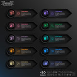 Lista infographic di progettazione di vettore con i cerchi variopinti Immagine Stock Libera da Diritti