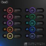 Lista infographic do projeto do vetor com círculos coloridos Fotografia de Stock