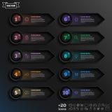 Lista infographic do projeto do vetor com círculos coloridos Imagem de Stock Royalty Free