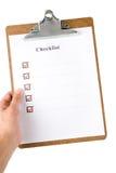 lista kontrolna Zdjęcie Stock