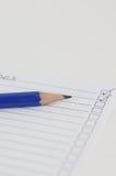 lista kontrolna błękitny ołówek Obraz Stock