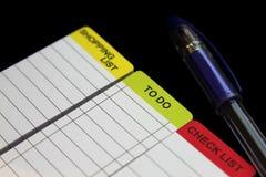Lista kontrolna, robić liście Fotografia Stock