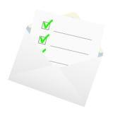 Lista kontrolna w kopercie Obraz Stock