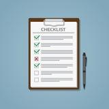 Lista kontrolna w notepad ilustracja wektor