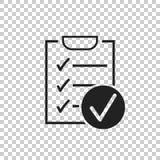 Lista kontrolna wektoru ikona Ankiety wektorowa ilustracja w płaskim projekcie royalty ilustracja