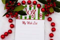 lista min wish Royaltyfri Foto