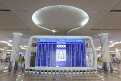 lista odjazdy przy Dubai International lotniskiem fotografia royalty free