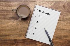 Lista personal de la resolución imagen de archivo