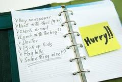 Lista rzeczy robić z poczta mię Zdjęcie Stock