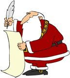 lista s Santa Fotografia Royalty Free
