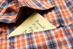 lista zakupy Zdjęcie Royalty Free