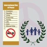 Listadag av fred Arkivbild