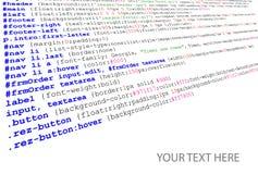 Listado del código fuente de Stylesheet ilustración del vector