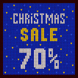 Listas de precios, plantilla del descuento Azul del descuento 70 de la oferta de la Navidad Imagen de archivo