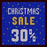 Listas de precios, plantilla del descuento Azul del descuento 30 de la oferta de la Navidad Foto de archivo