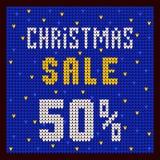 Listas de precios, plantilla del descuento Azul del descuento 50 de la oferta de la Navidad Fotos de archivo