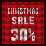 Listas de precios, plantilla del descuento Azul del descuento 30 de la oferta de la Navidad Imagen de archivo