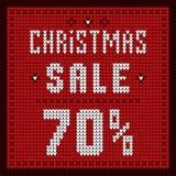 Listas de precios, plantilla del descuento Descuento 70 de la oferta de la Navidad Fotos de archivo