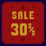 Listas de precios, plantilla del descuento Venta 30 Imagen de archivo