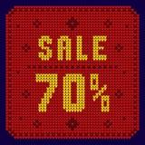 Listas de precios, plantilla del descuento Venta 70 Fotografía de archivo