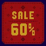 Listas de precios, plantilla del descuento Venta 60 Imagen de archivo