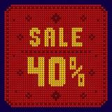 Listas de precios, plantilla del descuento Venta 40 Fotos de archivo libres de regalías