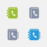 Listas telefônicas - ícones do granito ilustração stock