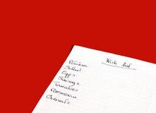 Liste d'achats Photo libre de droits