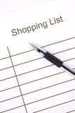 Liste d'achats Images libres de droits
