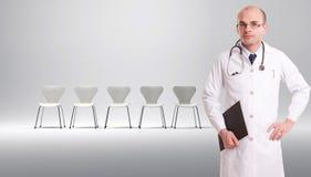 Liste d'attente de patients photographie stock libre de droits