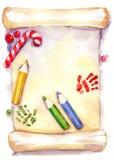 Liste d'objectifs de Noël Photos libres de droits