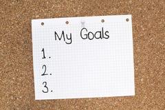 Liste de buts d'aspirations image libre de droits