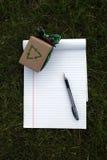 Liste de cadeau verte d'Eco Images libres de droits