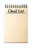 Liste de chèque en blanc Image libre de droits