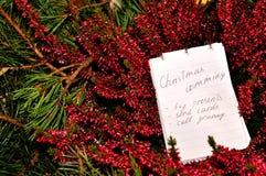 Liste de Chrismas Image libre de droits