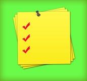 liste de contrôle Photographie stock libre de droits