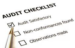 Liste de contrôle d'audit Photographie stock libre de droits