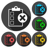 Liste de contrôle avec l'ensemble de X Mark Icons Illustration Libre de Droits