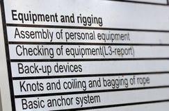 Liste de contrôle d'accès de corde images libres de droits