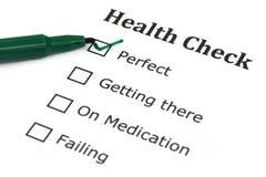 Liste de contrôle de santé Image libre de droits