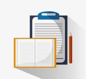 Liste de contrôle et conception de carnet Images stock