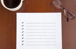Liste de contrôle vide Image libre de droits
