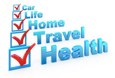 Liste de contrôle d'assurance Photo libre de droits