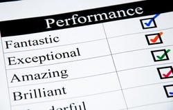 Liste de contrôle de haute performance Photographie stock