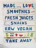 Liste de jus et de smoothies Images libres de droits