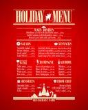 Liste de menu de vacances, nouvelle année Photos stock