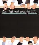 Liste de motivations Images stock